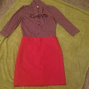 Banana Republic fully lined red skirt